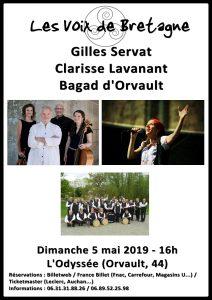 LES VOIX DE BRETAGNE : G.SERVAT, C.LAVANANT, BAGAD D'ORVAULT