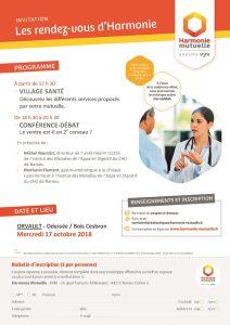 """LES RDV D'HARMONIE village santé & conférence-débat """"LE VENTRE EST-IL UN 2è CERVEAU?"""""""