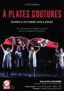 """l'ACO présente """"A PLATES COUTURES"""" théâtre musical"""
